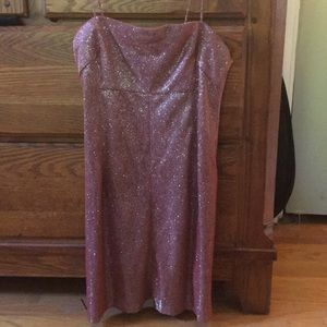 urban outfitters pink sparkly mini dress